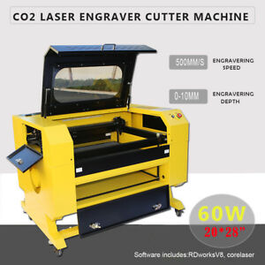 Engraver Cutter W Usb Interface Laser Engraving Machine 60w 110v Co2 Idu