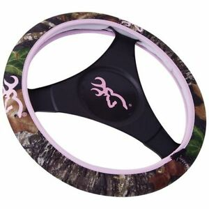 Browning Buckmark Pink Mossy Oak Camo Neoprene Steering Wheel Cover