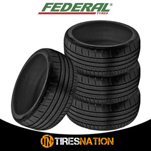 4 New Federal 595rpm 225 40zr19 93y Tires