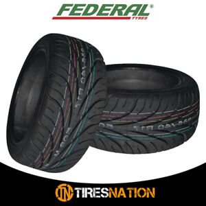 2 New Federal 595rs R 255 40zr17 94w Tires