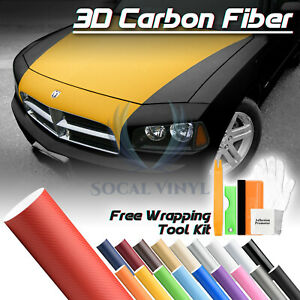 3d Matte Carbon Fiber Textured Vinyl Wrap Sticker Decal Air Bubble Free