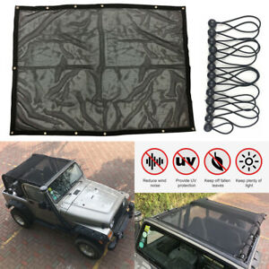 Eclipse Sun Shade Mesh Cover Bikini Roof Top Uv Protection For Jeep Wrangler Tj