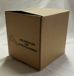 25 10x10x10 Corrugated Shipping Boxes 25 Boxes Custom Printed