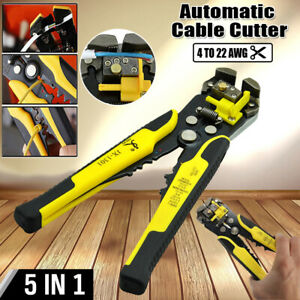 Automatic 5in1 Electrical Cable Wire Stripper Cutter Crimper Multi tool Pliers