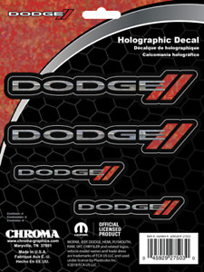 Dodge Ram Elite Holographic Decal Sticker Badge Logo Emblem Set Truck Auto 27503