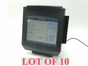 Lot 10 Ncr 7402 12 Color Realpos Touchscreen Pos Terminal Magnetic Card Reader