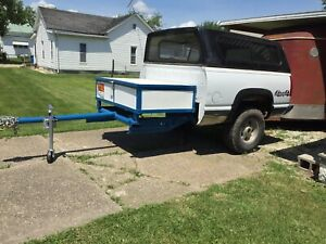 Awesome Utility Trailer Truck Bed Hauling Wood Storage You Can Lock Spare Tire