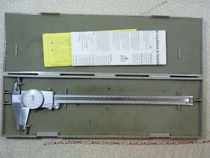 Mitutoyo 505 677 12 Inch Analog Caliper With Storage Case 480739