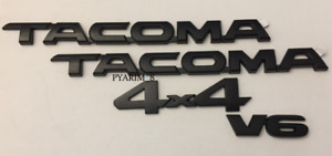 For 2016 2018 Toyota Tacoma Tag Matte Black Door Emblem Decal Badge Nameplate