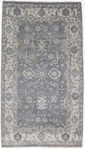 Floral Wool Silk Oushak Chobi 4 5x8 Indian Rug Oriental Home D Cor Carpet