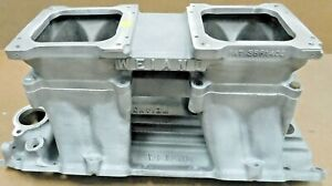 Weiand 2933 1921 Bb Chevy Square Port Tunnel Ram Dual 4500 Flange Side Mount
