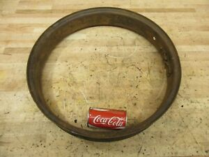 Antique Model A T Car Truck Era Wood Wheel Tire Steel Rim Band 20 X 3 Usable