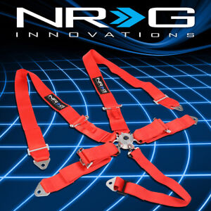 Nrg Sbh R6pcrd 5 Point Cam Lock Buckle 3 Safety Harness Seat Belt Replacement