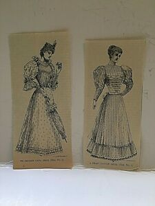Vintage Lot Of 2 Late 1800s Dress Sewing Pattern Print Ads Y2