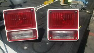 1971 1977 Chevy G10 Van Tail Lights Complete Assembly 1972 1973 1974 1975 Oem