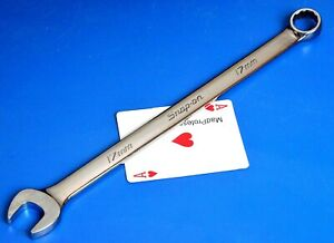 Snap On Tools Metric 17mm Long 12 Point Combination Open Box End Wrench New 2019