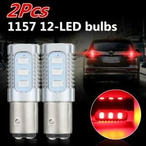 Pair Red 1157 Led Flashing Strobe Blinking Tail Stop Brake Lights Bulbs Lamp Us