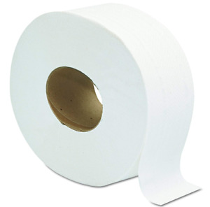 Toilet Paper 12 Pack Giant 2 Ply Rolls 9 Large Office Commercial Wc Bath Towel