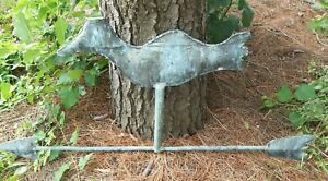 Antique Copper Lightning Rod Weathervane Old Crow Farm Salvage