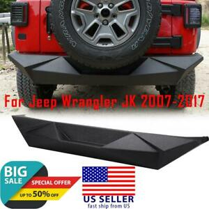 Carbon Steel Rock Crawler Angry Style Rear Bumper For Jeep Wrangler Jk 2007 2017