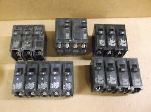 Lot Of 15 Circuit Breakers Square D Siemens And Gould