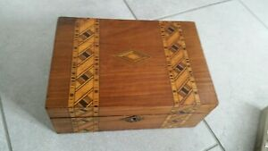 Beautiful Antique Victorian Wooden Sewing Box