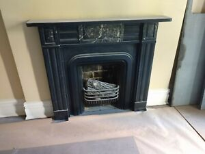Antique Marble Fireplace Mantles White Marble Fireplace Good Condition