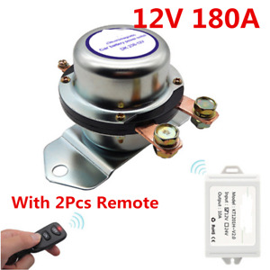 12v 180a Car Battery Switch Manual Disconnect Latching Relay W 2pcs Remote