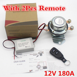Car Universal 12v Battery Switch 180a Remote Manual Disconnect Latching Relay