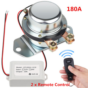 Car Manual Control Battery Switch Disconnect Anti theft Power Master Kill Dc12v