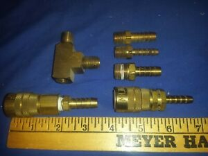 Vtg Brass Milton Couplers Kwik Change 2 Misc Parts Lot Air Compressor