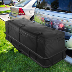 60 Cargo Hauler Carrier Hitch Mounted Receiver Luggage Basket With Bag Set