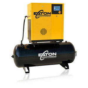 10hp Rotary Screw Air Compressor With 80 Gallon Tank 3 Phase 230v Fixed Speed