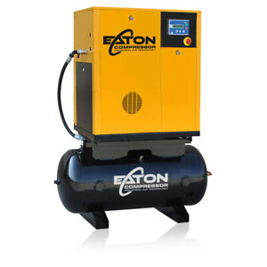 10hp Rotary Screw Air Compressor With 60 Gallon Tank Single Phase Fixed Speed