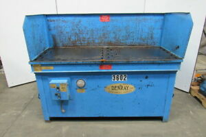 Denray Model 2872g 28 X 72 Down Draft Grinding Wood Sanding Table 460v 3 Ph