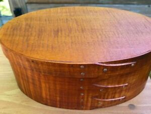 Tiger Maple Shaker Oval Box Size 4