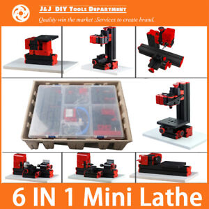 6 In 1 Mini Lathe milling drilling wood Turning jag Saw An