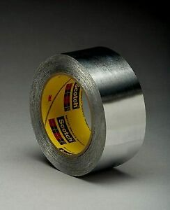 3m 433 1 1 4 In X 60 Yd 3 6 Mil Hi Temp Aluminum Foil Tape 1 25 In Silver