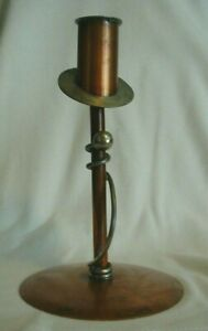 Antique Arts And Crafts Handmade Candle Holder By Flemish Copper B P Co 4005