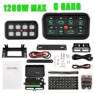 8 Gang Switch Panel On off Led Car Switch Panel Circuit Control Universal 12 24v