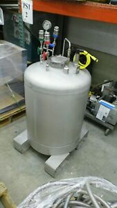 Alloy Products 50 Gallon 24 Od 316 Stainless Steel Hplc Solvent Pressure Vessel