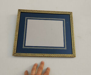 Vintage Art Deco Gold Black Reverse Painted Wood Picture Frame