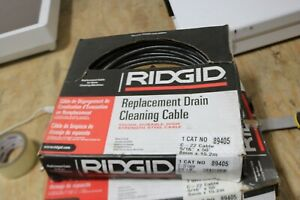 New Ridgid 89405 Drain Cleaning Cable 5 16 In X 50 Ft