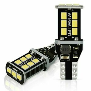 2x T15 921 W16w Smd 24 Led Car Hid White Canbus Error Free Wedge Light Bulb