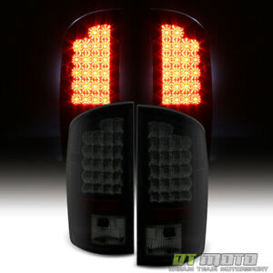 Super Smoked 2002 2006 Dodge Ram 1500 2500 3500 Black Lumileds Led Tail Lights