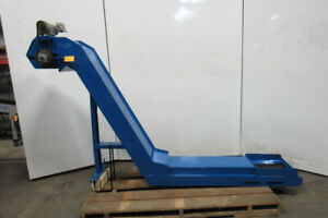 Parts chip Incline Cleated Conveyor 12 Wide 50 Disc 4fpm 108 Long 200 220v