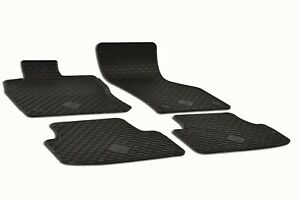 Set Of 4 Black Rubber All Weather Floor Mats Oe Fit For Vw Gli Golf R Gti Mk7