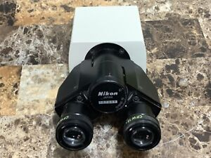 Nikon Binocular Head With Cfw 15x Oculars For Labophot And Optiphot Microscopes
