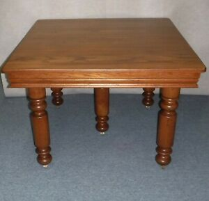 Antique Five Leg Oak Dining Table 5 Leaves Professionally Restored