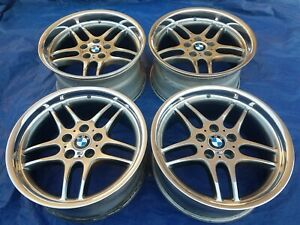 Bmw E38 Oem Factory Mpar Mparallel 18x9 5 8 Polished Style 37 Forged Wheels Rims